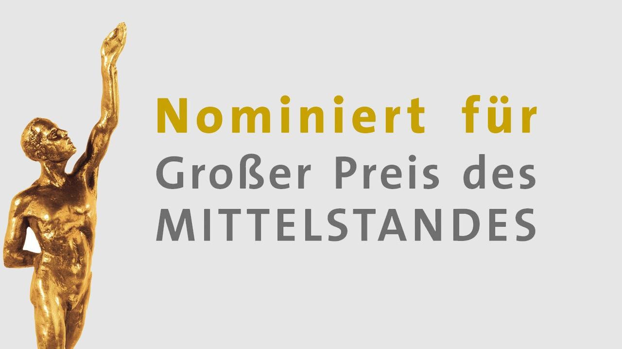 """Nominierung zum """"Großen Preis des Mittelstandes"""""""